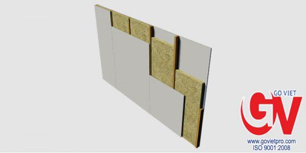 Panel sợi bông khoáng rockwool