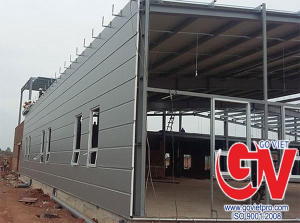 Tấm panel dùng ốp tường trong các công trình.
