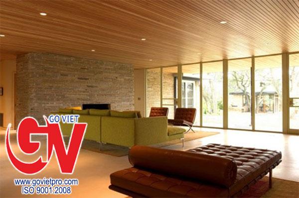 Trần tôn vân gỗ - yếu tố thẩm mỹ tạo nên sự sang trọng
