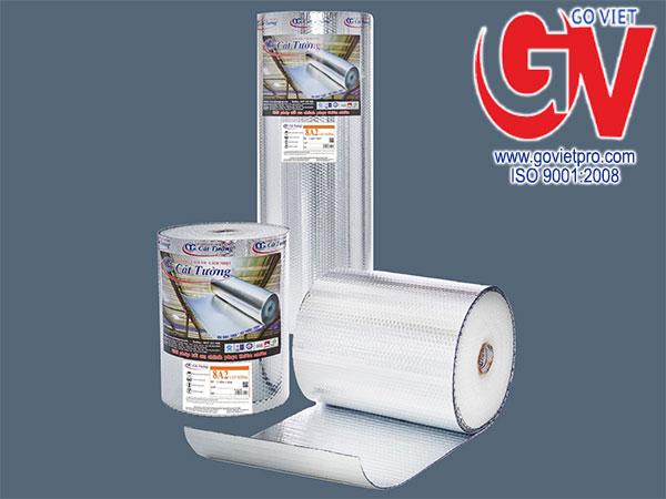Túi khí cách nhiệt Cát tường có lớp màng nhôm có tính năng phản xạ nhiệt tốt lên đến 97%