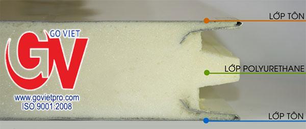 Cấu tạo 3 lớp của Panel PU 50mm