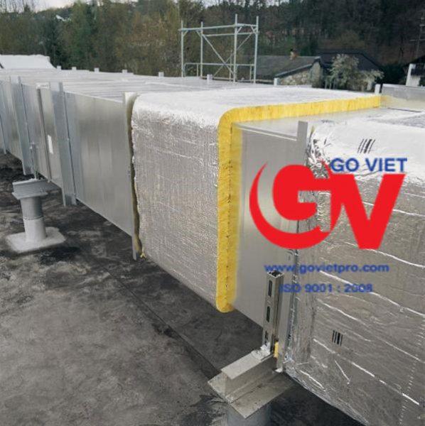 Bông thủy tinh chịu nhiệt được sử dụng làm mái che cho công trình