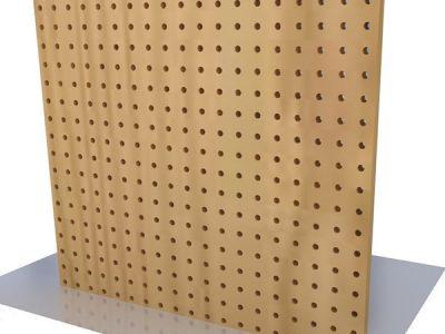 Gỗ Tiêu Âm đục lỗ Perforated acoustic Wood GV-TA001 dạng đục lỗ