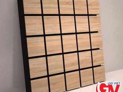 Gỗ tiêu âm rãnh vuông Square Groove Acoutis Wood GV-TA004